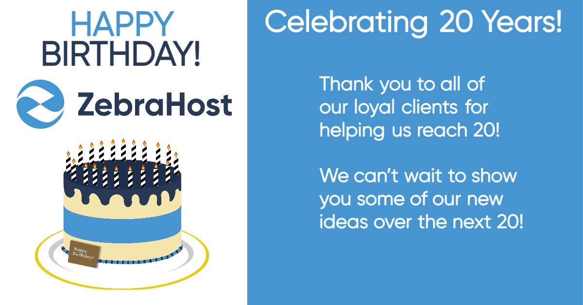 Happy Birthday ZebraHost